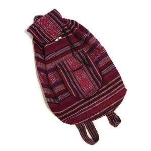 Mexican Blanket Artesanías Boho Backpack Knapsack